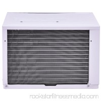 Costway 8K BTU White Compact 115V Window-Mounted Air Conditioner With Remote Control