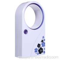 New Bladeless Rechargable/Battery Operated Summer Mini Handheld Cooling Fan Portable Air Conditioner Refrigeration No Leaf Cooler USB Desktop Office Home