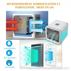 Personal Space Cooler, Air Purifier Humidifier 3 in 1, Three Fan Speeds 4-Foot Cooling Area , Portable Air Conditioner for Office and Bedroom