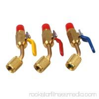 3x R410A R134A Brass Shut Valves for A/C Charging Hoses HVAC 1/4 AC Refrigerant
