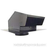 """Builders Best 012633 Black Metal Roof Vent Cap, 6"""" Collar   554717203"""