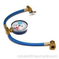 R134a AC HVAC ReCharge Measuring Refrigerant Hose Can Tap w/ Gauge System