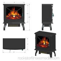 AKDY FP0083 20 White Freestanding Portable Electric Fireplace Firebox Heater Flames w/ Logs 566721471