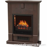 DECOR FLAME Electric Space Heater fireplace with 28 Mantle, Dark Chocolate 552713062