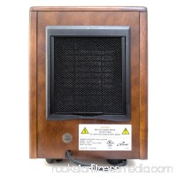 iLIVING ILG-918 Portable Infrared Space Heater with Wooden Cabinet
