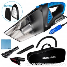 Car Vacuum Cleaner for Car, Morpilot Corded DC 12V Portable Handheld Vacuum Cleaner for Car with Strong Suction High Power, 1 Carrying Case, 16.4ft Cable, Small Dust Collector Buster