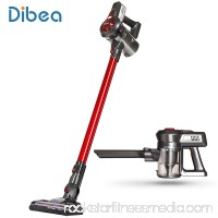 Dibea C17 2-in-1 Handheld Cordless Stick Wireless Upright Vacuum Cleaner for Pet Hair Hard Floor,Red