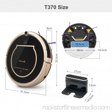 Robot Vacuum Cleaner, Robotic Vacuum Cleaner with Smart Mopping and Water Tank, Self-charging & Drop-sensing Technology, High Suction and HEPA Style Filter for Pet Fur and Allergens