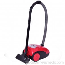 Costway Vacuum Cleaner Canister Bagged Cord Rewind Carpet Hard Floor w Washable Filter