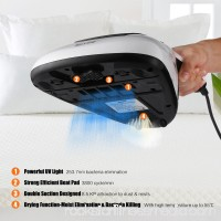 Housmile Portable Handheld Anti-Dust Mites UV Vacuum Cleaner with Advanced HEPA Filtration and Double Powerful Suctions Eliminates Mites, Bed Bugs, Mattresses, Pillows, Cloth Sofas, Carpets