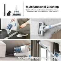 MLITER 2 in 1 Cordless Stick and Handheld Vacuum Cleaner with 22.2V Lithium-ion Rechargeable Battery (White/Blue)