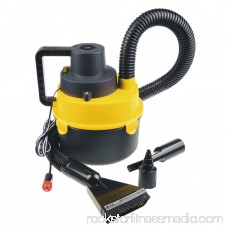 Portable Powerfull Mini Auto Car Vacuum Cleaner Wet/Dry DC 12 Volt Easy and Hassle-free Car Cleaning Black&Yellow 568961199