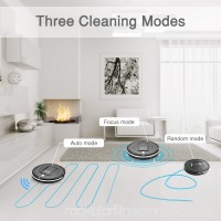 Automatic Robot Vacuum Cleaner - Robotic Home Cleaning for Clean Carpet Hardwood Floor, HEPA Pet Hair and Allergies Friendly - Black