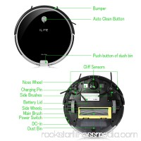 ILIFE A6 Robot Vacuum Cleaner, Automatic Remote Control Cleaning Machine, Black