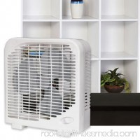 2-Speed Tabletop Box Fan 9-Inch Compact Quiet Home Office, White