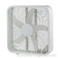 "Pelonis FB50-16H 20"" White Plastic 3-Speed Box Fan   557501538"