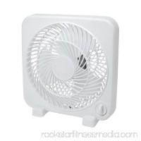 """White 3 Speed Box Fan - Compact 9"""" Box Fan"""