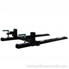 Titan 43 LW Clamp on Pallet Forks 1,500 lb Capacity w/ Stabilizer Bar