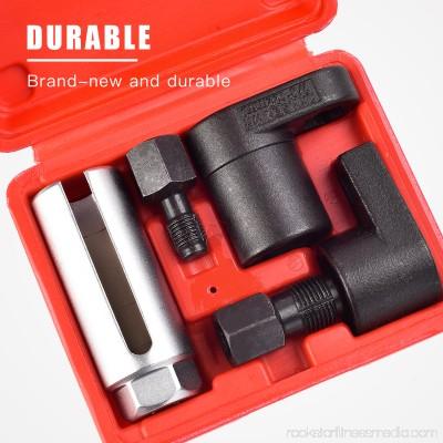 SUNCOO 5pcs O2 Oxygen Sensor Socket Thread Chaser Install Remove Wrench M18 M12 Vacuum