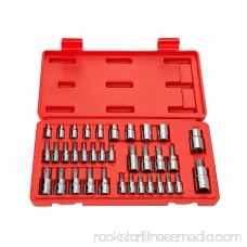 TEKTON Star Bit Socket and E Socket Set for 1/4-Inch, 3/8-Inch and 1/2-Inch Drive Ratchets, 35-Sockets | 1354 566028860
