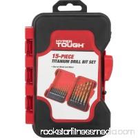 Hyper Tough 3431 15-Piece High Speed Drill Bit Set   555702187