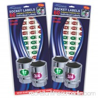 Steellabels - Chrome Socket Labels - blue- tough chrome foil tool decals, great for mechanics, homeowners