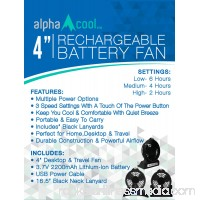 AlphaCool 4 Rechargeable Battery Powered Fan