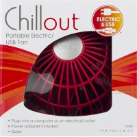 ChillOut® USB Personal Fan GF3R, Red   554059614