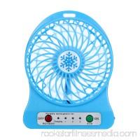 Cute Portable Rechargeable LED Light Fan Air Cooler Mini Desk USB 18650 Battery Fan