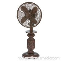 DecoBREEZE Oscillating Table Fan 3-Speed Air Circulator Fan, 10-Inch, Bentley   566241545