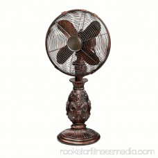 DecoBREEZE Oscillating Table Fan 3-Speed Air Circulator Fan, 10-Inch, Savery 566232868
