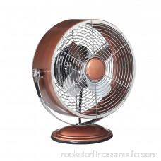 DecoBREEZE Retro Fan Air Circulator Table Fan with Full Pivot Fan Head, Metallic Silver 566237132