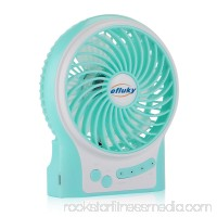 """efluky 3 Adjustable Speeds 4.5"""" Mini USB Rechargeable Table Fan, Pink"""