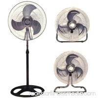 "Energy Efficient Oscillating Quiet Speed Adjustable Air Circulator 9"" Desk Fan   556259929"