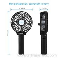 isYoung Mini Handheld Fan Outdoor Foldable Fan Table Desk Desktop USB Rechargeable Cooling Portable Fan With 18650 Battery