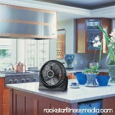 Lasko Breeze Machine Pivoting Floor/Table 2-Speed Fan, Model #507, Black 551891997