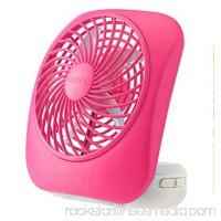 O2COOL 5-Inch Portable Fan, Desktop Fan, Battery Operated Fan, 2-Speed Fan, Tilt Fan, Compact Folding Fan, D-Battery Fan, Tabletop Fan, Household Fan, Raspberry   568049564