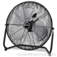 "Patton High Velocity Fan, Three-Speed, Black, 24 1/2""W x 8 5/8""H"
