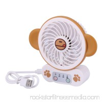 Plastic Home Outside Rechargeable Carton Pattern Mini USB Powered Cooler Fan