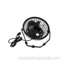 Portable Home Office Metal Shell,Aluminum USB Powered Personal Mini Fan for PC Laptop