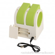 Unique Bargains Portable Home Office Bladeless Cooling USB Battery Powered Personal Mini Fan Green