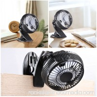 Yescom 360 Degree Rotation Portable USB Mini Fan Clip On Table Desk Personal Cooling Office Home Car Camping