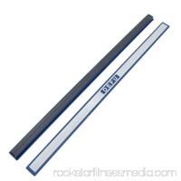 Unique Bargains 2 Pcs Plastic 12 Whiteboard Magnetic Stripe School Office Blue Silver Tone