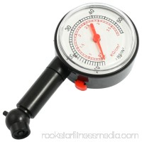 Portable Plastic 10-50 Lb/IN2 Dial Tire Pressure Gauge for Truck Bike Black