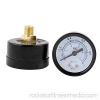 Round 1/8 BSP Male Thread Dial Water Pneumatic Air Pressure Gauge 2Pcs