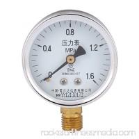 Round Dial Male Thread Pneumatic 0-1.6Mpa Pressure Gauge Measure Tool