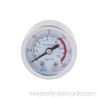 Round Shaped 0-180PSI 0-12 kg/cm2 10mm 1/8BSP Thread Dia Dial Air Pressure Gauge
