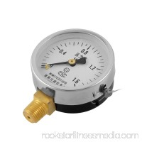 Unique Bargains Unique Bargains Black Clear Horizontal Mount 1/4 Thread Water Air Pressure Gauge 0-1.6MPa
