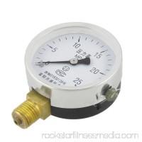 Unique Bargains Unique Bargains Black Clear Horizontal Mount 14mm Thread Water Air Pressure Gauge 0-25 MPa