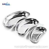 3 pcs Stainless Steel Kidney Trays Dishes Small, Medium, Large New